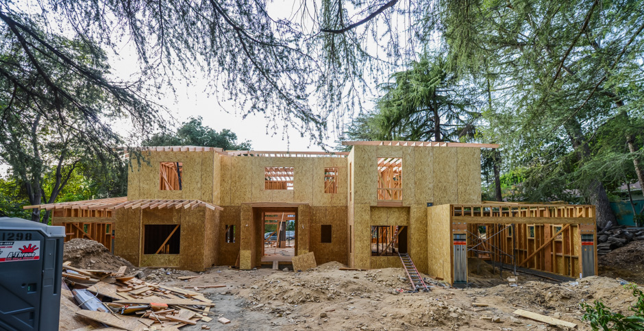 la canada new construction rebuild addition architect rash studio structural hillside permit development framing foundation design