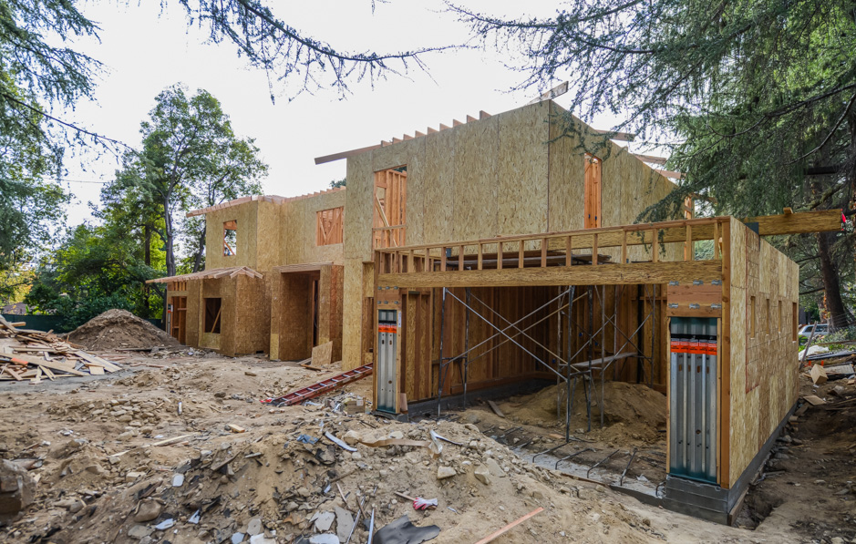 la canada new construction rebuild addition architect rash studio structural hillside permit development framing foundation garages