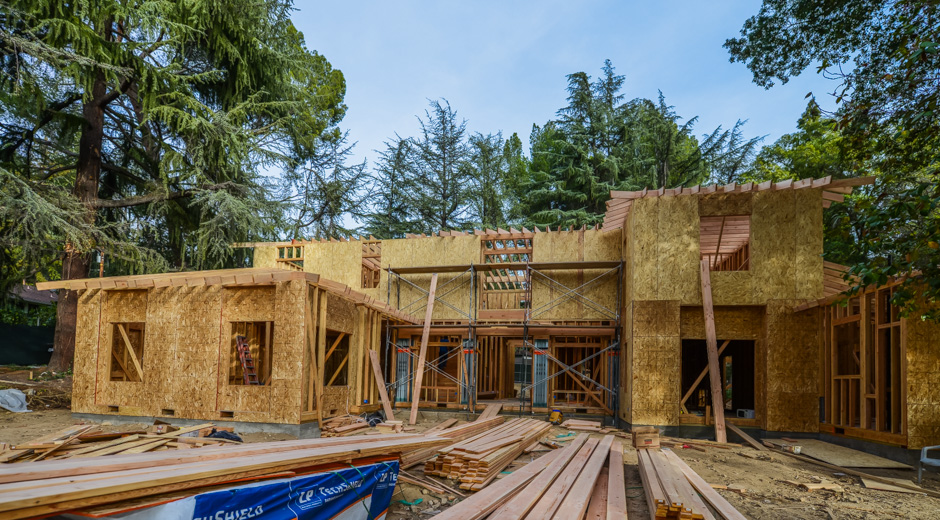 la canada new construction rebuild addition architect rash studio structural hillside permit development framing foundation